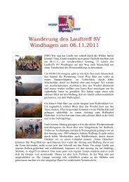 Wanderung des Lauftreff SV Windhagen am 06.11.2011