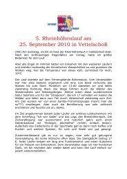 5. Rheinhöhenlauf am 25. September 2010 in ... - SV Windhagen