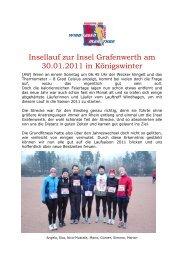 Insellauf zur Insel Grafenwerth am 30.01.2011 in ... - SV Windhagen