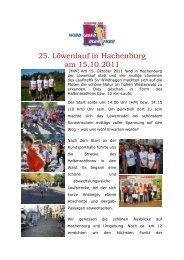25. Löwenlauf in Hachenburg am 15.10.2011 - SV Eintracht ...