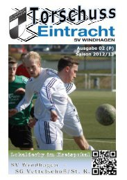 Ausgabe 02 (P) Saison 2012/13 - SV Windhagen