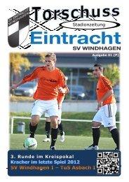 Stadionzeitung 3. Runde im Kreispokal - SV Windhagen