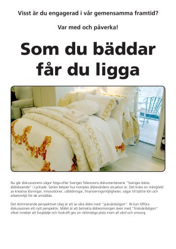 """Sveriges bästa äldreboende"""" i Lycksele. Var med och"""