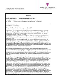 TOP 4 Bericht des Oberkirchenrates - Evangelische Landeskirche in ...