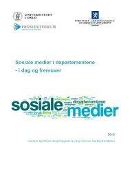 Sosiale medier i departementene - i dag og fremover - Regjeringen