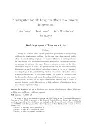 Kindergarten for all: Long run effects of a universal intervention