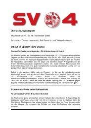 Zusammenfassung Jugendspiele_we46 - SV 04 Attendorn e.V.