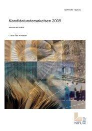 Kandidatundersøkelsen 2009