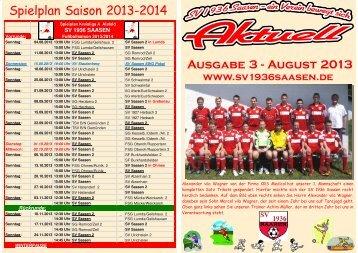 Heft 51 August 2013 - SV 1936 Saasen