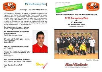 SV 63 Brandenburg-West VfL Potsdam 16.November 2008