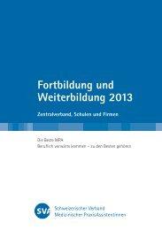 Fortbildung und Weiterbildung 2013 - SVA