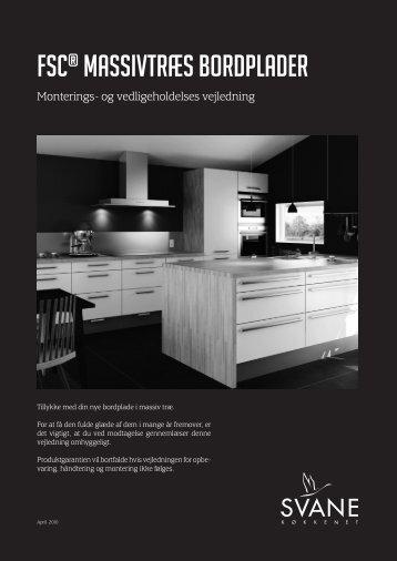FSC® MASSIVTRÆS BORDPLADER - Svane Køkkenet