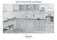 MONTERINGSVEJLEDNING - Svane Køkkenet