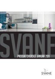 SvaneProduktoversigt januar 2011 - Svane Køkkenet