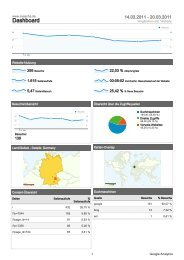Google Analytics 11. KW 2011 - SV Ascha