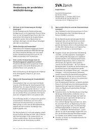 Herabsetzung der persönlichen AHV/IV/EO-Beiträge - SVA Zürich
