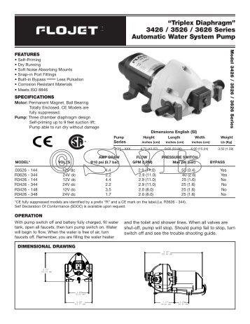 Manual: FLOJET Triplex Druckwasserpumpe, at www.SVB.de