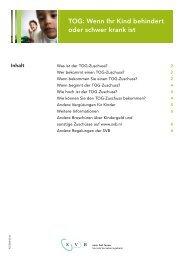 TOG: Wenn Ihr Kind behindert oder schwer krank ist (pdf, 577 ... - Svb