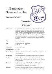 1. Bernrieder Sommerbiathlon - SV Bernried