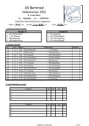 spielplan d juniorinnen - SV Bernried