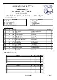 HALLENTURNIER 2013 - SV Bernried