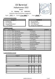 spielplan damen - SV Bernried