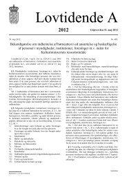 Bekendtgørelse om indhentelse af børneattest ved ansættelse og ...