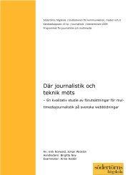 Där journalistik och teknik möts - Svenska Dagbladet