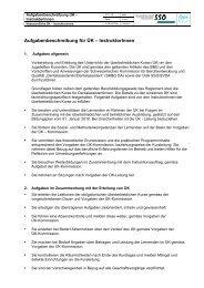 Aufgabenbeschreibung für ÜK – InstruktorInnen - SVDA