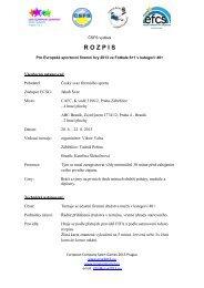 Propozice 40+ - European company sport games 2013