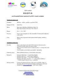 R O Z P I S - European company sport games