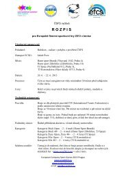 R O Z P I S - European company sport games 2013