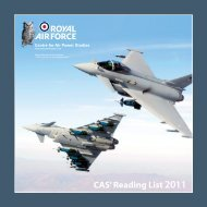 CAS' Reading List 2011 - Air Power Studies