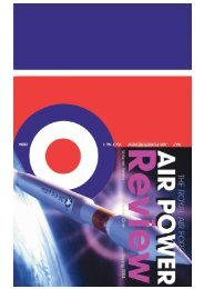 Volume 7 No 1 - Royal Air Force Centre for Air Power Studies