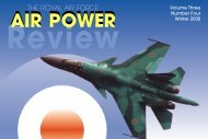 Volume 3 No 4 - Air Power Studies