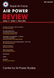 Vol.11 No.3, Winter 2008 - Air Power Studies