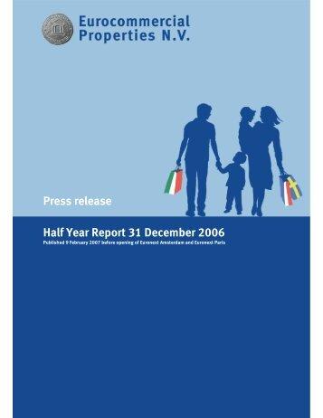 Press release Half Year Report 31 December 2006