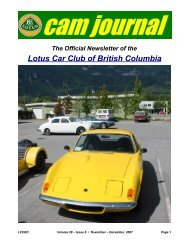 Volume 28, Issue 06 Nov-Dec - Lotus Car Club of British Columbia