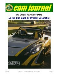 Volume 28, Issue 05 Sept-Oct - Lotus Car Club of British Columbia