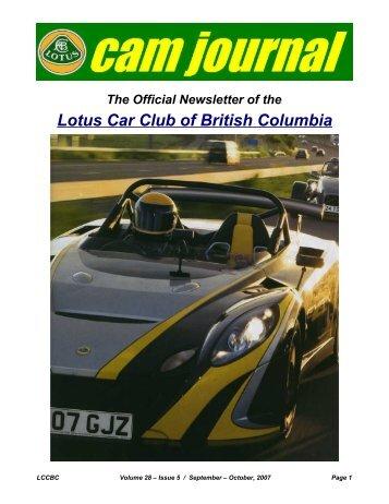 Volume 28, Issue 05 Sept-Oct - Lotus Car Club of British Columbia