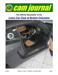 Volume 27, Issue 05 Nov-Dec - Lotus Car Club of British Columbia