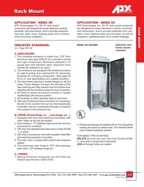 APX Enclosures Rack Mount Cabinets - Signal Control Products