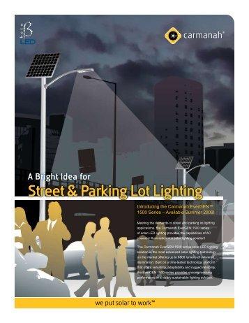 EverGEN Solar Street and Parking Lot Lighting - Signal Control ...