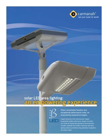 solar LED area lighting - Signal Control Products, Inc.