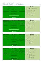 Saison 1997 / 1998 – 1. Kreisklasse
