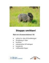 Stoppa smittan! - Svenska Djurhälsovården