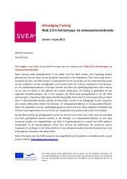 Uitnodiging Training Web 2.0 in het beroeps- en ... - SVEA