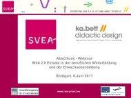 Abschluss - Webinar Web 2.0 Einsatz in der beruflichen ... - SVEA