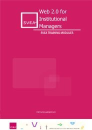 Web 2.0 for Institutional Managers - SVEA