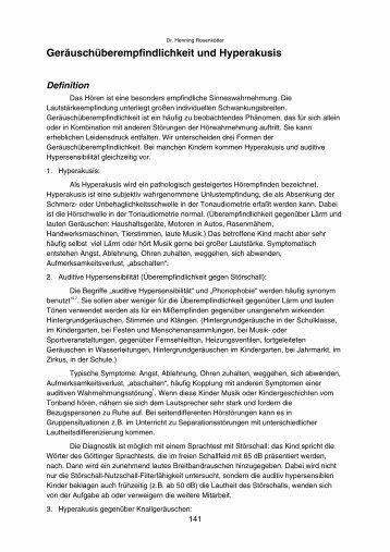 Geräuschüberempfindlichkeit und Hyperakusis - Audiva